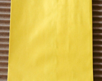 Sunbrite Yellow Glassine Lined Paper Bakery Bags - 4 3/4 x 6 3/4 Inches - set of 50