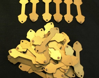 Tags - Gold Button-Secure Jewelry Price Display 5/8 inch - Acorn Shape - Pack of  1000