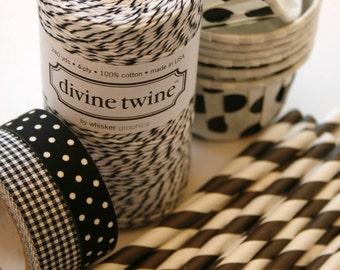 Full Spool - 240 Yards - Licorice Divine Twine - Black - Baker's Twine