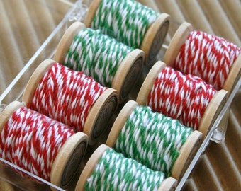 Baker's Twine Traditional Christmas Color Combination Kit - 40 Yards - Two Colors