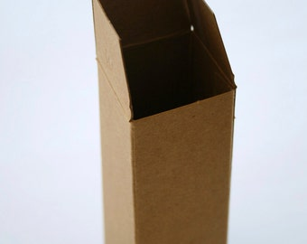 Brown Kraft Boxes DIY - set of 12 - Perfect with Twine or Deco Tape - Packaging - 1 1/2 x 1 1/2 x 4 Inches