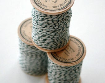 Packaging Twine - 30 Yards on Wooden Spool - Hunter Green
