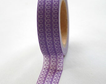 Washi Tape - 15mm - Purple Loop - Deco Paper Tape No. 83