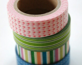 Washi Tape Set - 15mm - Combination K - Multi Color Combination - Four Rolls Washi Tape 86,109,200,775