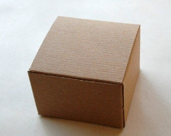 Brown Kraft Gift Boxes DIY - Set of 30 - Perfect with Twine or Deco Tape - Packaging - 3 x 3 x 2 Inches