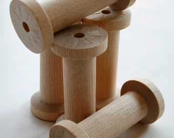 Large Wooden Spools - set of 20 - Natural Wood Thread Spools