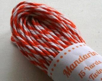 Baker's Twine - Tester Size - 15 Yards - Mandarin Orange 4 Ply Twine