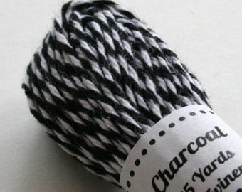 Baker's Twine - Tester Size - 15 Yards - Charcoal Black 4 Ply Twine