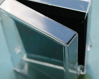 Medium Clear Polystyrene Boxes - Packaging and Storage - Set of 5
