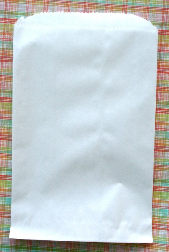 Set of 50 - White Kraft Flat Merchandise Bags - 12 x 15 Inches - Gifts and Packaging