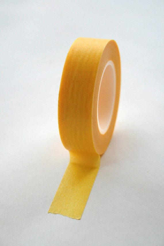 Washi Tape - 15mm - Banana Yellow - Deco Paper Tape No. 1