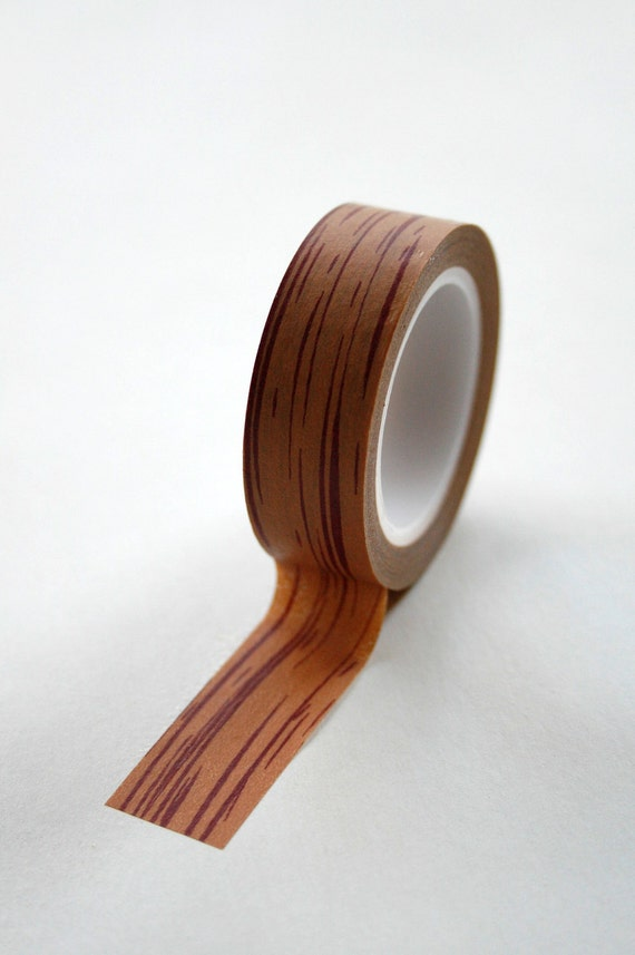 washi tape 15mm woodgrain brown wood deco paper tape no. Black Bedroom Furniture Sets. Home Design Ideas