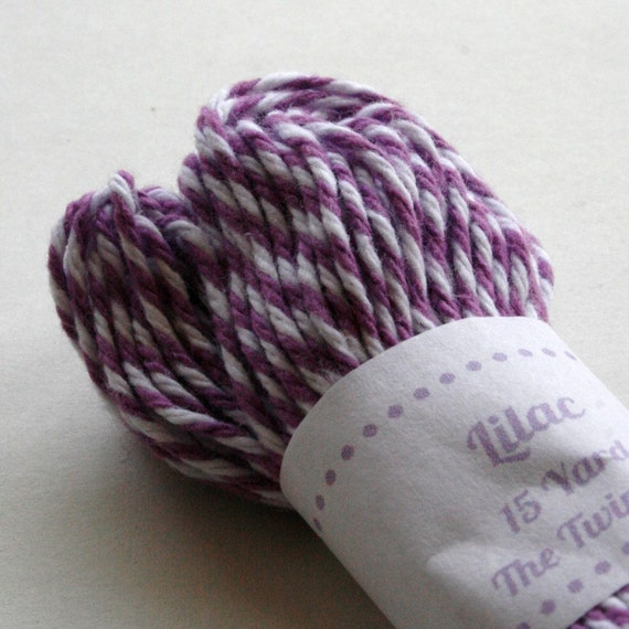Baker's Twine - Tester Size - 15 Yards - Lilac Purple 4 Ply Twine