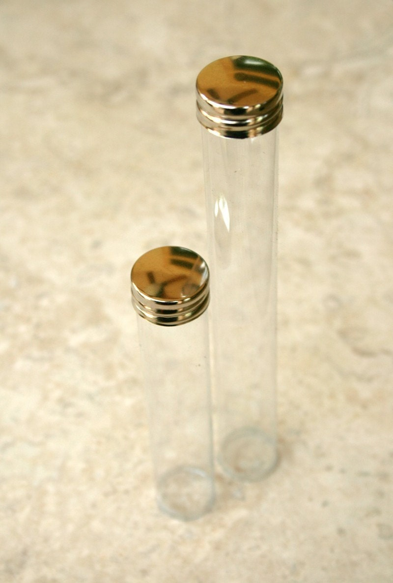 Clear Plastic Storage Tubes 7/8 Inch Diameter with by