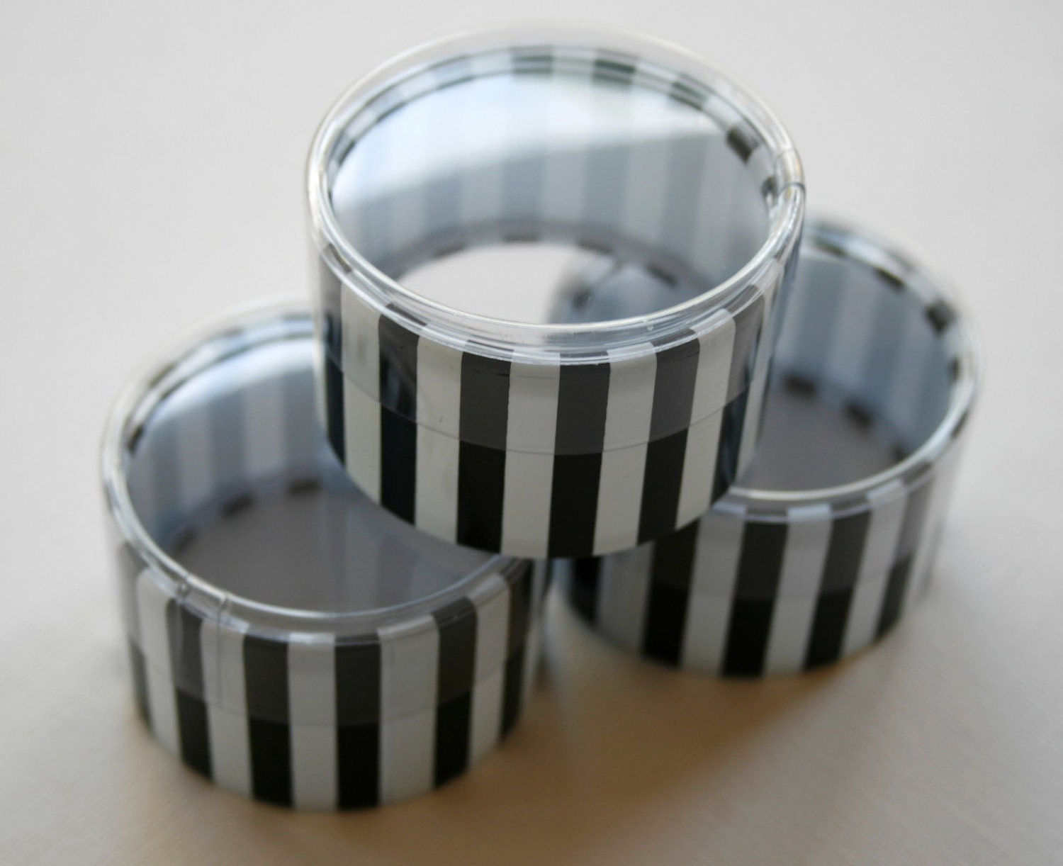 One dozen favor or storage boxes with clear lids and for Black box container studios