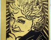 Golden Girls Postcard - Bea Arthur - Gold
