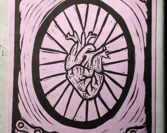 Bike Love Postcard - Pink
