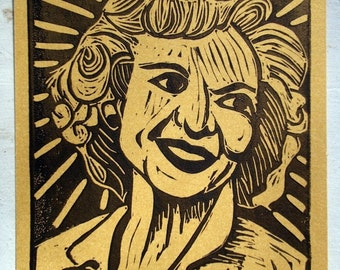 Golden Girls Post Card - Betty White - Gold