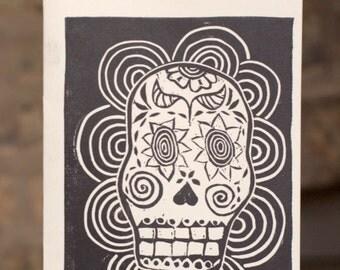 """Day of the Dead """"calavera"""" skull print"""