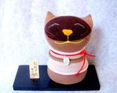 Lucky Cat-Meowy-Kokeshi style sock doll
