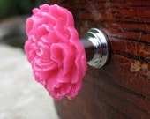 Drawer Knobs Peony Flower in Hot Pink, more COLORS available (RFK02)