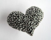 Heart Drawer Knobs - Decorative Knobs in Silver Metal (MK115)