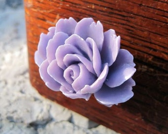 Drawer Knobs with Lila Shaded Flower MORE COLORS Available (RFK05)
