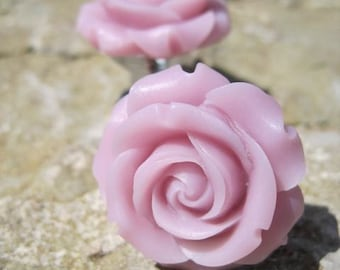 Petite Rose Drawer knobs in Antique Pink MORE COLORS Available (RFK07)