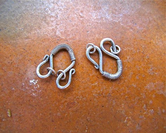 Destash - Sterling Silver U Shaped Hook Clasps (2)