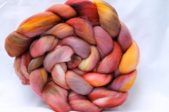 Hand Dyed Super fine Merino Top 4 oz n160