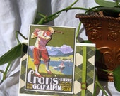 Vintage Golfer Greeting Card