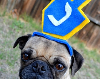 HANUKKAH Chanukah DREIDEL pet HAT fits all sizes
