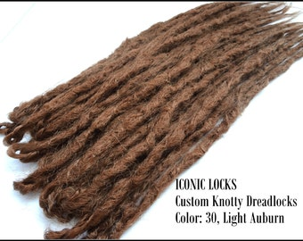 10 Light Auburn Synthetic dreads, synthetic dreadlock extensions, dreadlocks, dreads, synthetic dreadlocks, dreadlock extensions, dread