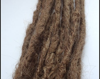10 Light Brown Knotty Dreadlock Extensions.Synthetic dreadlock extensions. Synthetic dreads. Natural looking dreads. Made to Order.