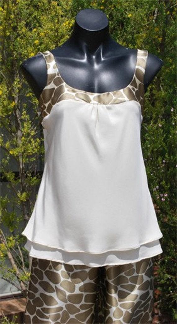 Silk Pajamas - Size AU10/US6/UK8