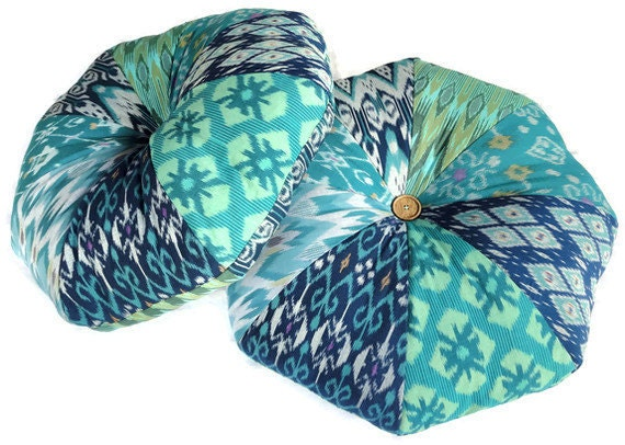 24 Ikat Floor Pillow Pillows Set of 2