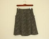POPPY DISPOSITION Black & White Abstract Print Tulip Skirt S/M