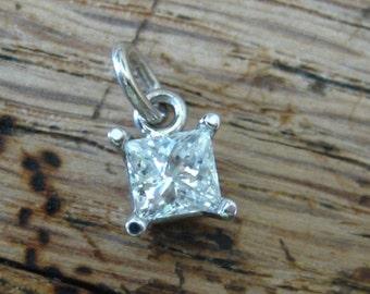 Half Carat Diamond 14kt Gold Pendant