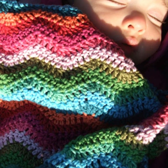 Beach Waves crochet baby blanket (made to order)