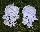 Lace flower earrings - Gorgeous for summer