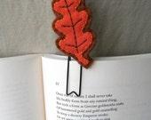 Oak Leaf Wool Felt Paperclip Bookmark