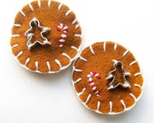 Gingerbread Men Cookie Cutter Hair Clip Set