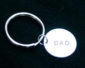 Sale - Hand Stamped Dad Keychain - Ready to Ship