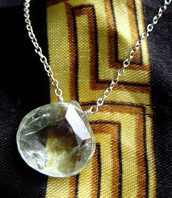 green amethyst & sterling silver necklace