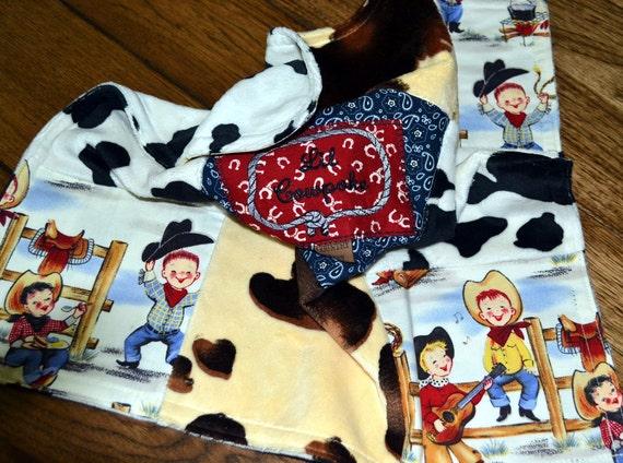 Western Baby SECURITY BLANKET/LOVEY Lil Cowpoke