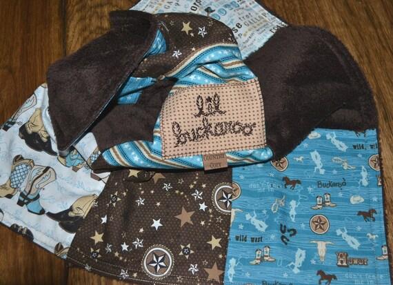 Western Cowboy Baby Car Seat blanket - Special Order Item