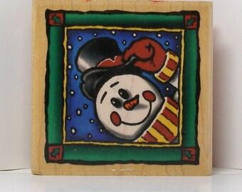 MR SNOWMAN Rubber Stamp
