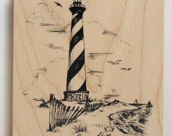 PSX Rubber Stamp Cape Hatteras LIGHTHOUSE rare