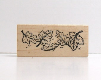 Falling Leaves Border Rubber Stamp