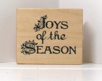 Joys of the Season rubber stamp PSX